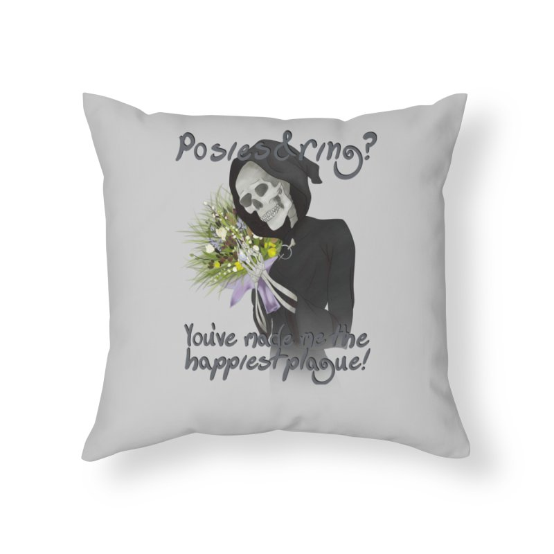 Plague Posies Home Throw Pillow by Ivy's Meadow