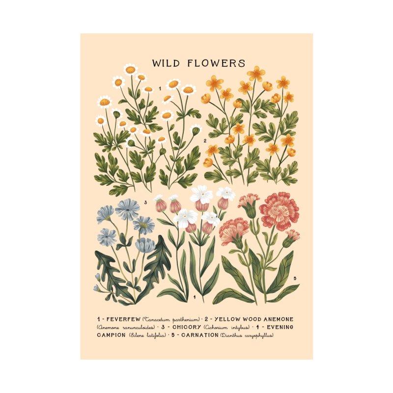 Wild Flowers vol.3 Bright Men's T-Shirt by izptica's Artist Shop