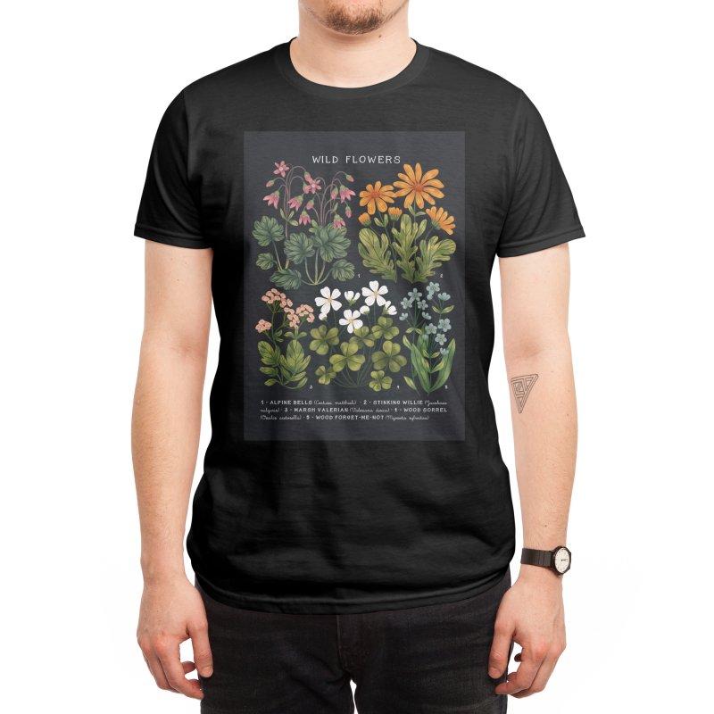 Wild Flowers vol.4 Dark Men's T-Shirt by izptica's Artist Shop