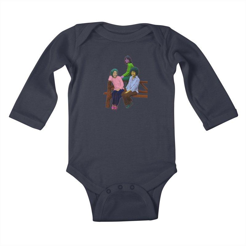 70's Sisters Kids Baby Longsleeve Bodysuit by Izzy Berdan's Artist Shop
