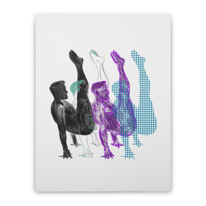 popart penguin Home Stretched Canvas by Izzy Berdan's Artist Shop
