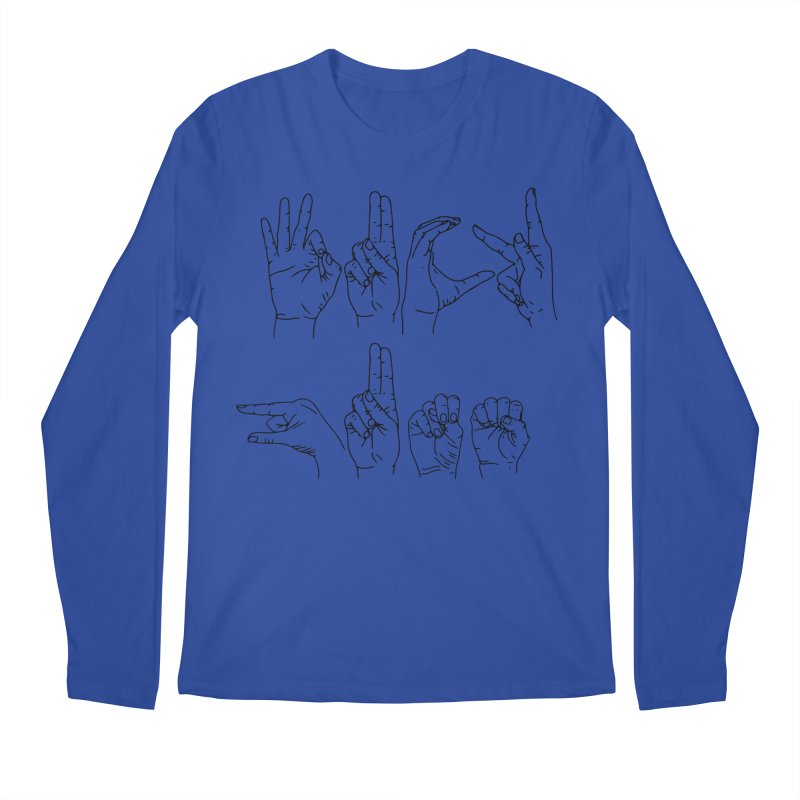 F*UCK GUNS Men's Regular Longsleeve T-Shirt by Izzy Berdan's Artist Shop