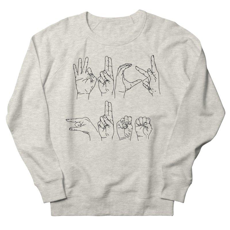 F*UCK GUNS Women's French Terry Sweatshirt by Izzy Berdan's Artist Shop