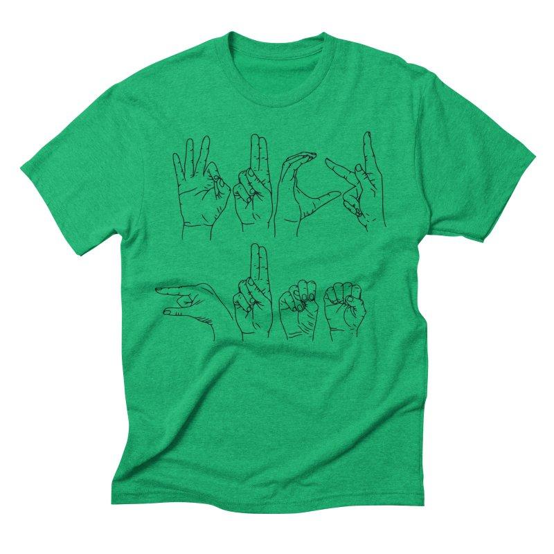 F*UCK GUNS Men's Triblend T-Shirt by Izzy Berdan's Artist Shop