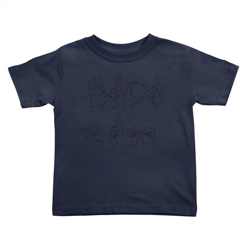 F*UCK GUNS Kids Toddler T-Shirt by izzyberdan's Artist Shop
