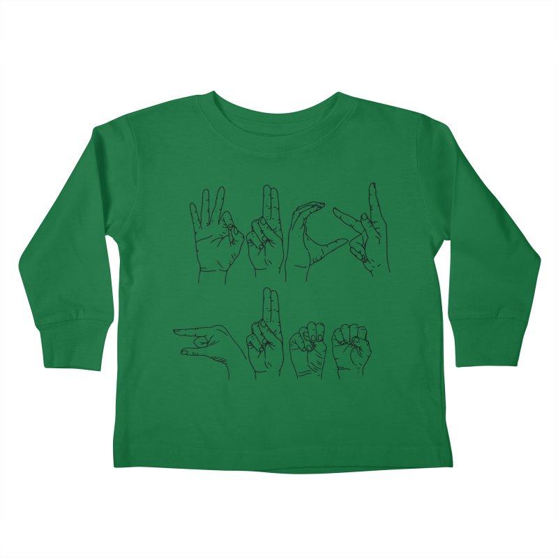 F*UCK GUNS Kids Toddler Longsleeve T-Shirt by izzyberdan's Artist Shop