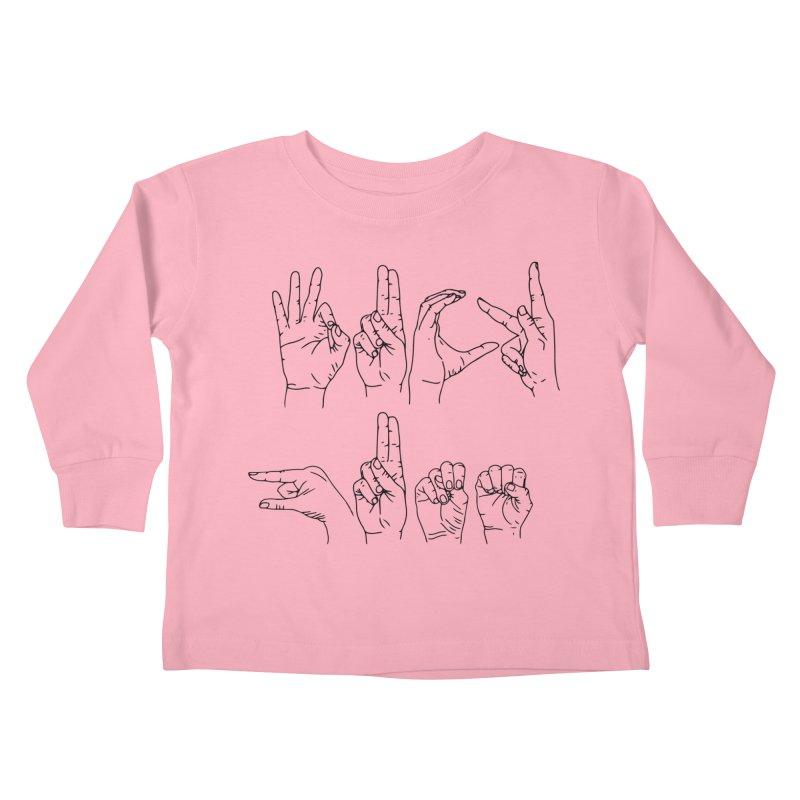 F*UCK GUNS Kids Toddler Longsleeve T-Shirt by Izzy Berdan's Artist Shop