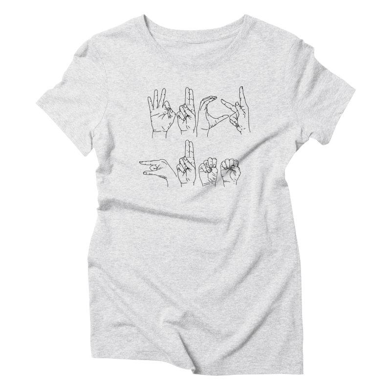 F*UCK GUNS Women's Triblend T-Shirt by Izzy Berdan's Artist Shop