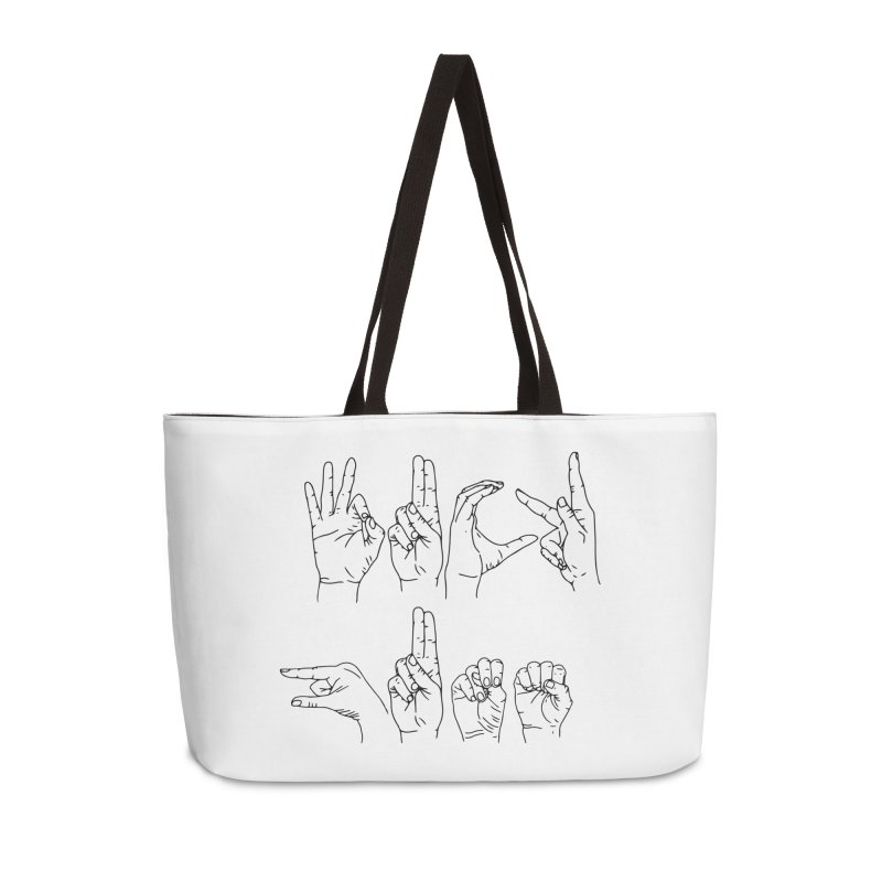 F*UCK GUNS Accessories Weekender Bag Bag by Izzy Berdan's Artist Shop