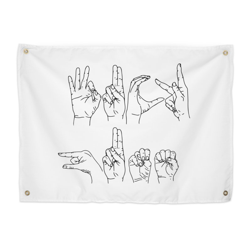 F*UCK GUNS Home Tapestry by Izzy Berdan's Artist Shop