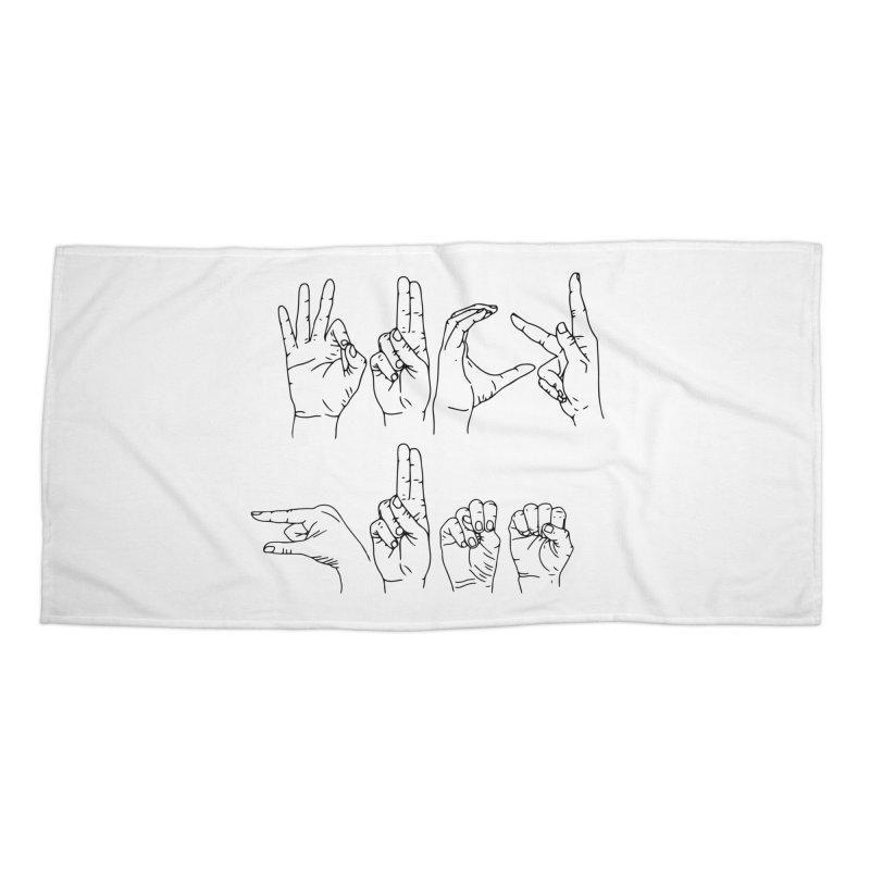 F*UCK GUNS Accessories Beach Towel by Izzy Berdan's Artist Shop