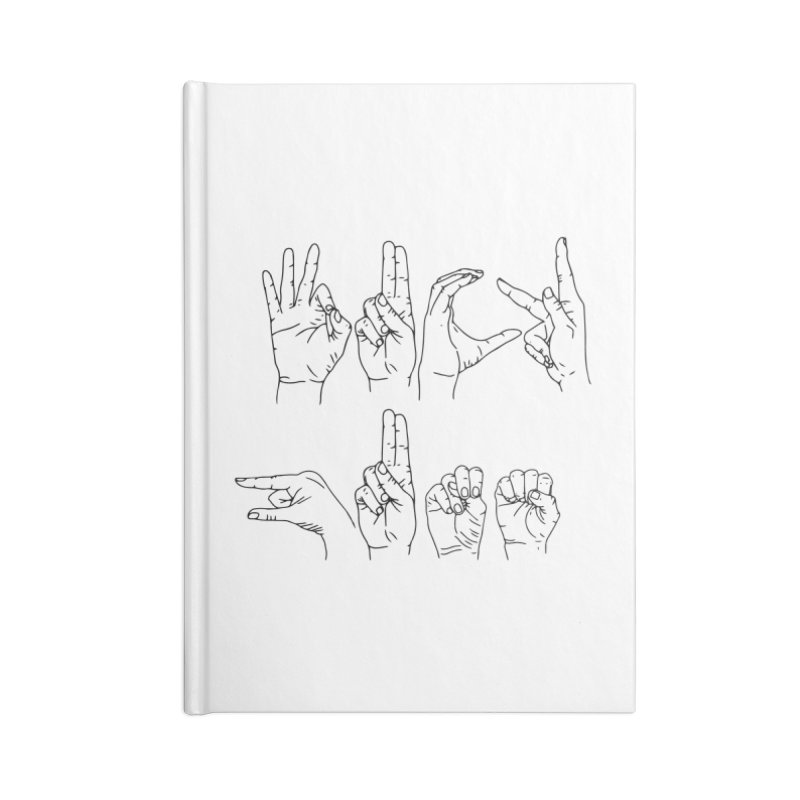 F*UCK GUNS Accessories Blank Journal Notebook by Izzy Berdan's Artist Shop