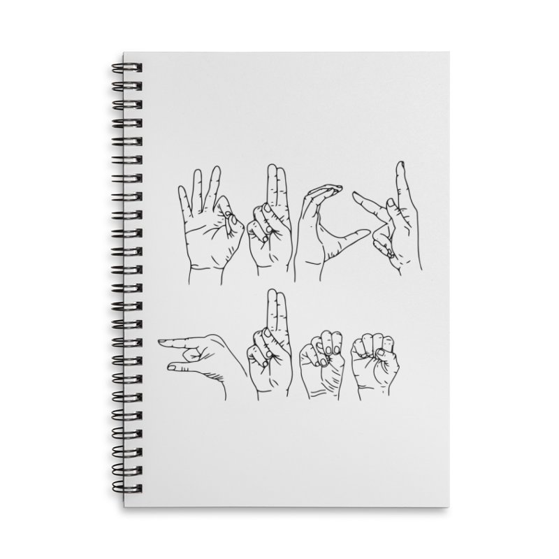 F*UCK GUNS Accessories Lined Spiral Notebook by Izzy Berdan's Artist Shop