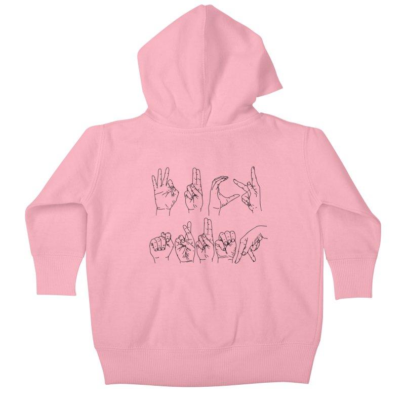 F*CK TRUMP Kids Baby Zip-Up Hoody by Izzy Berdan's Artist Shop