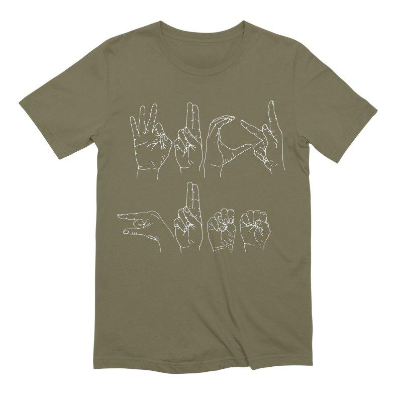 F*CK GUNS white Men's Extra Soft T-Shirt by Izzy Berdan's Artist Shop