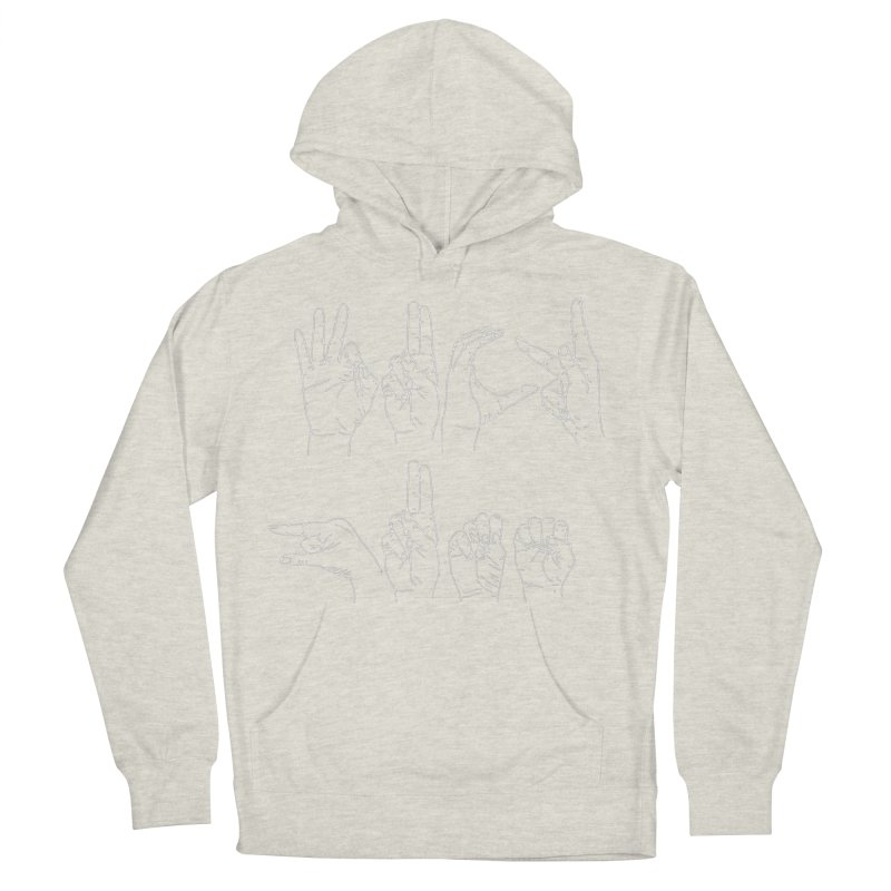 F*CK GUNS white Men's French Terry Pullover Hoody by Izzy Berdan's Artist Shop
