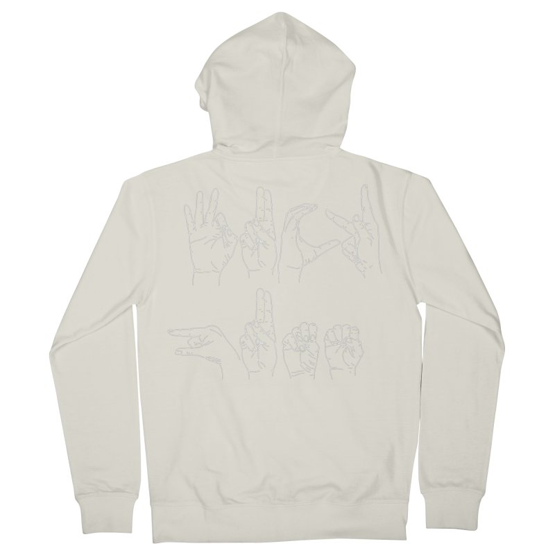F*CK GUNS white Men's French Terry Zip-Up Hoody by Izzy Berdan's Artist Shop