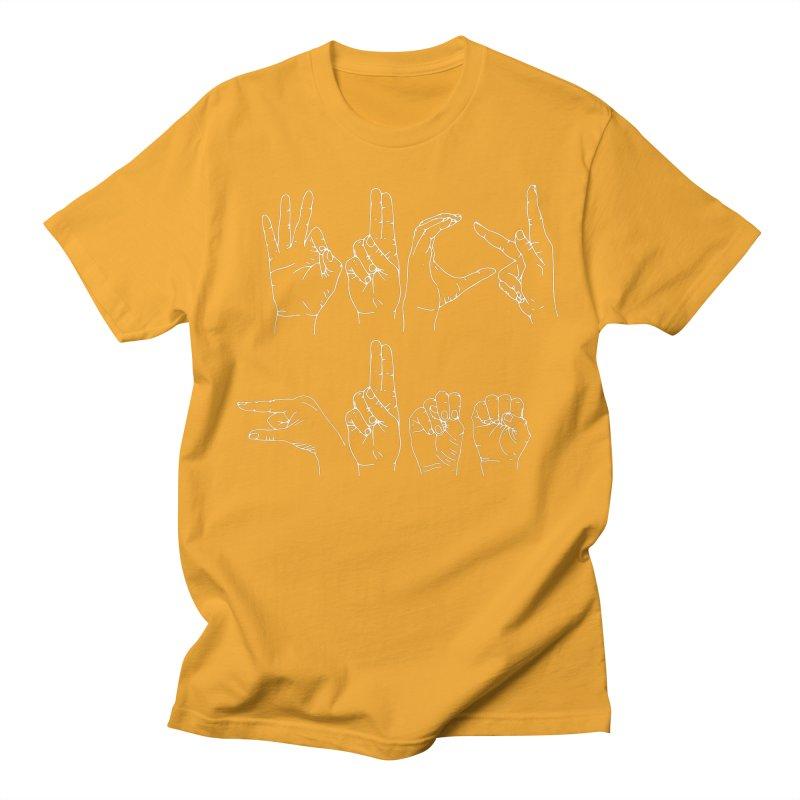 F*CK GUNS white Men's Regular T-Shirt by Izzy Berdan's Artist Shop