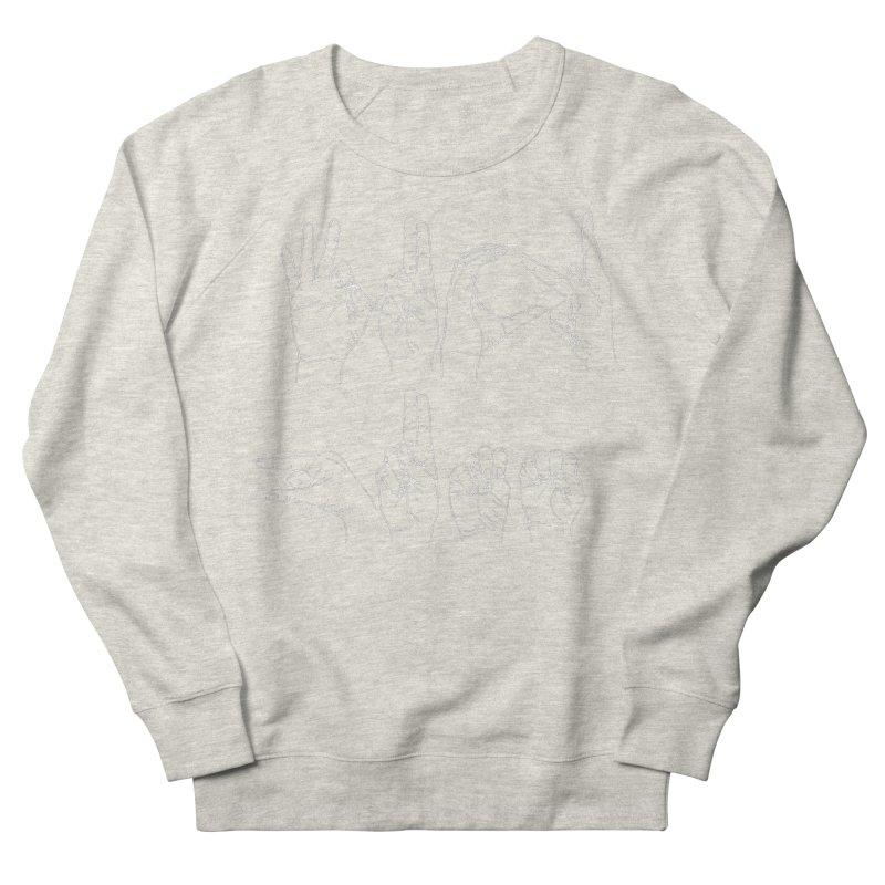 F*CK GUNS white Men's French Terry Sweatshirt by izzyberdan's Artist Shop