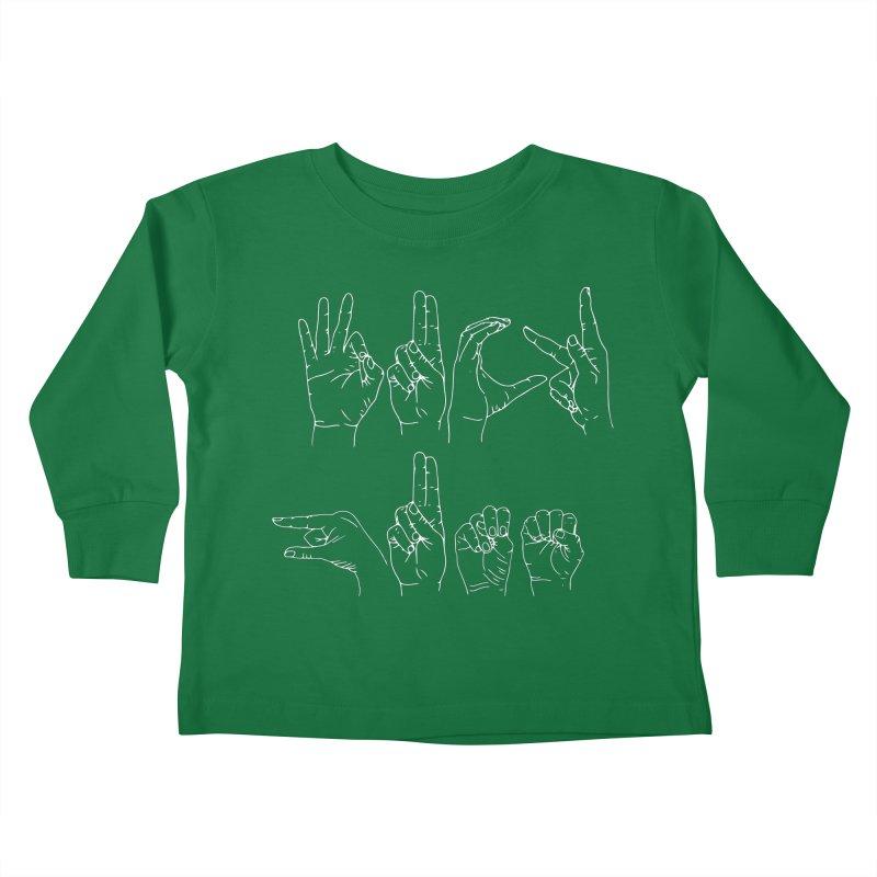 F*CK GUNS white Kids Toddler Longsleeve T-Shirt by izzyberdan's Artist Shop