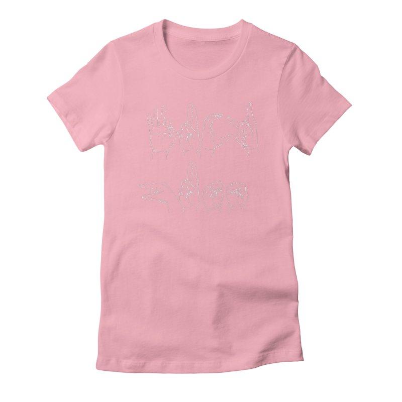 F*CK GUNS white Women's T-Shirt by Izzy Berdan's Artist Shop