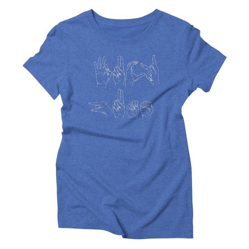 F*CK GUNS white Women's Triblend T-Shirt by Izzy Berdan's Artist Shop