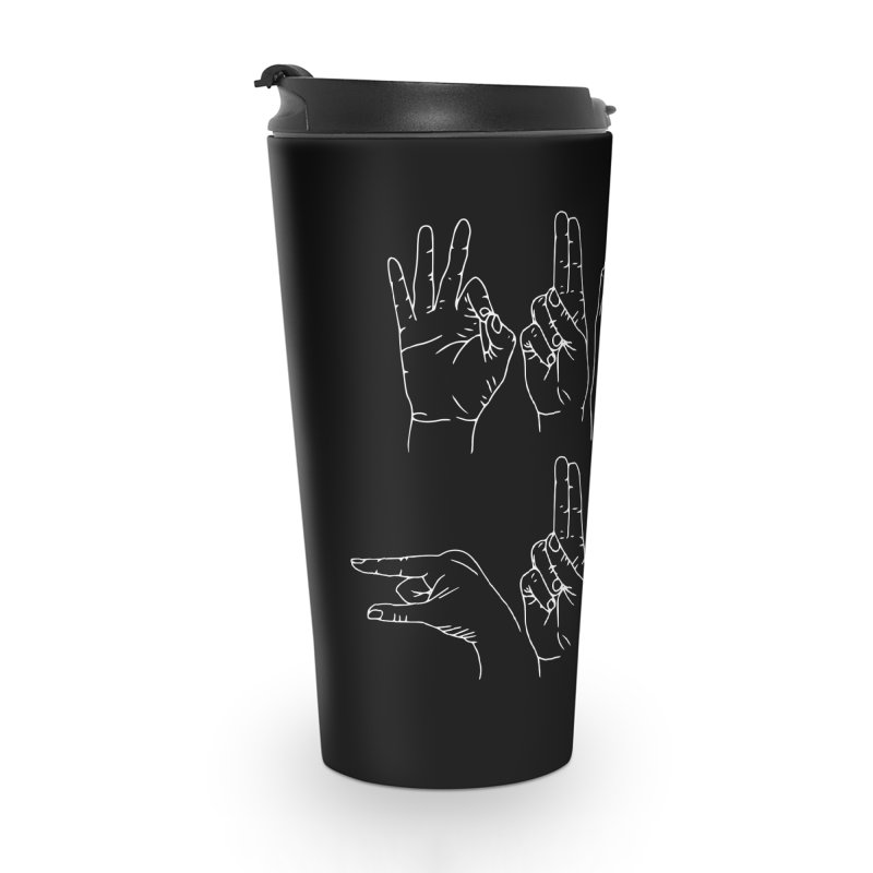 F*CK GUNS white Accessories Travel Mug by Izzy Berdan's Artist Shop
