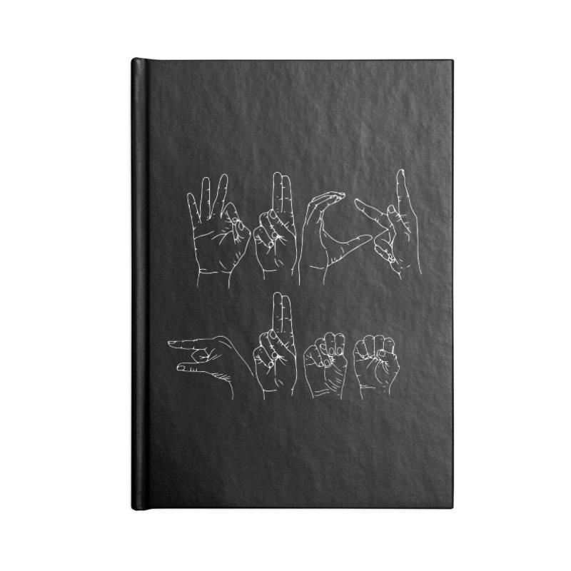 F*CK GUNS white Accessories Lined Journal Notebook by Izzy Berdan's Artist Shop