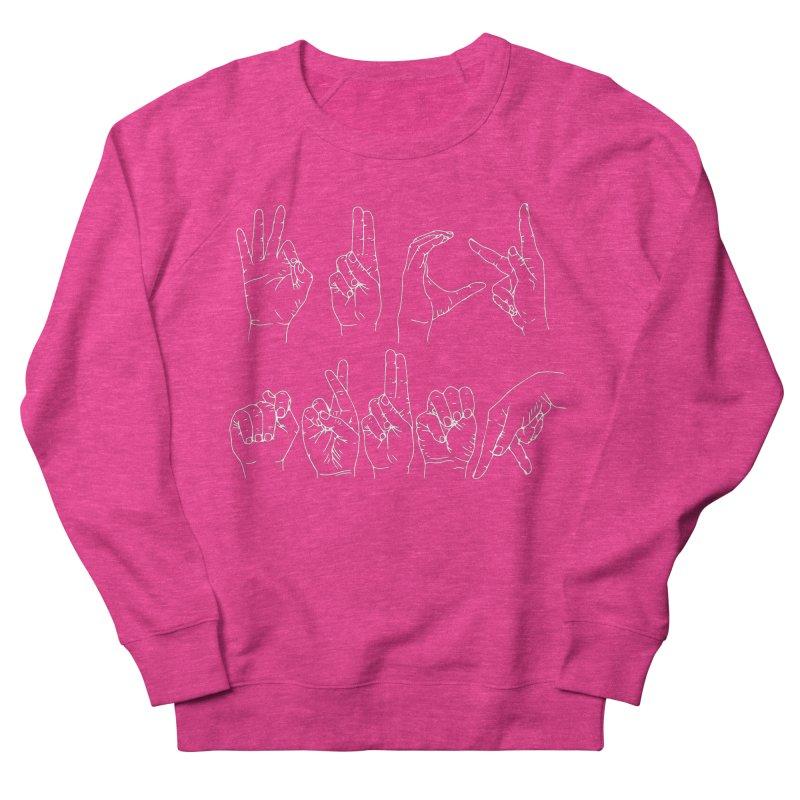 F*CK TRUMP wh Women's French Terry Sweatshirt by Izzy Berdan's Artist Shop