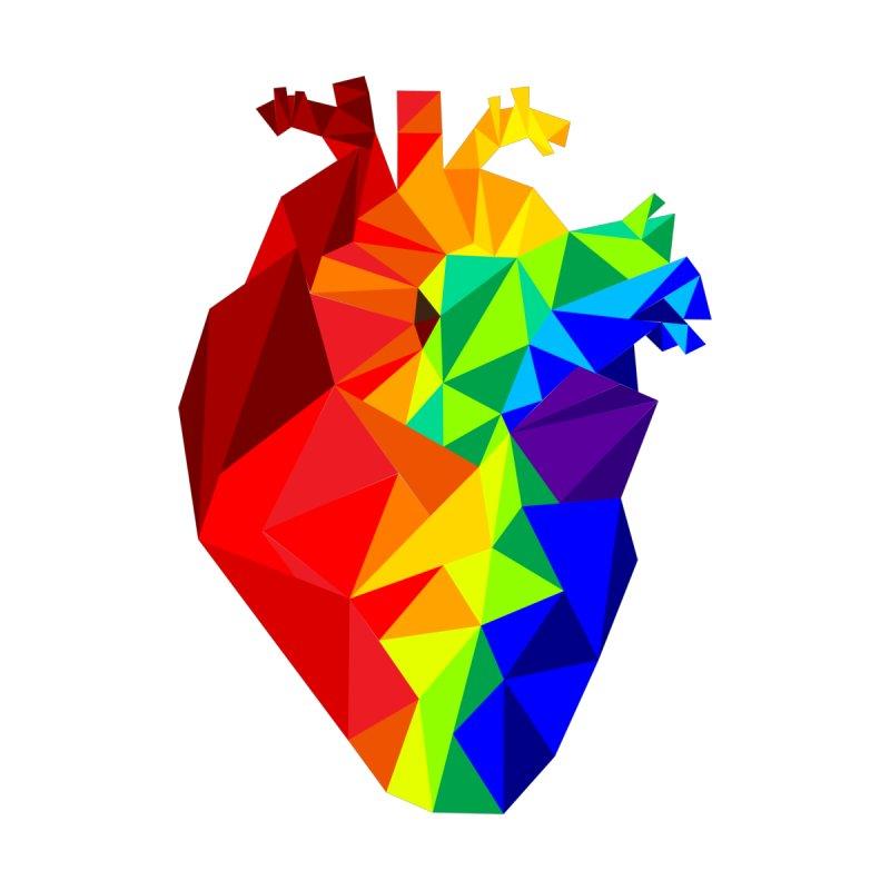 Crystal Heart Men's V-Neck by Izzy Berdan's Artist Shop
