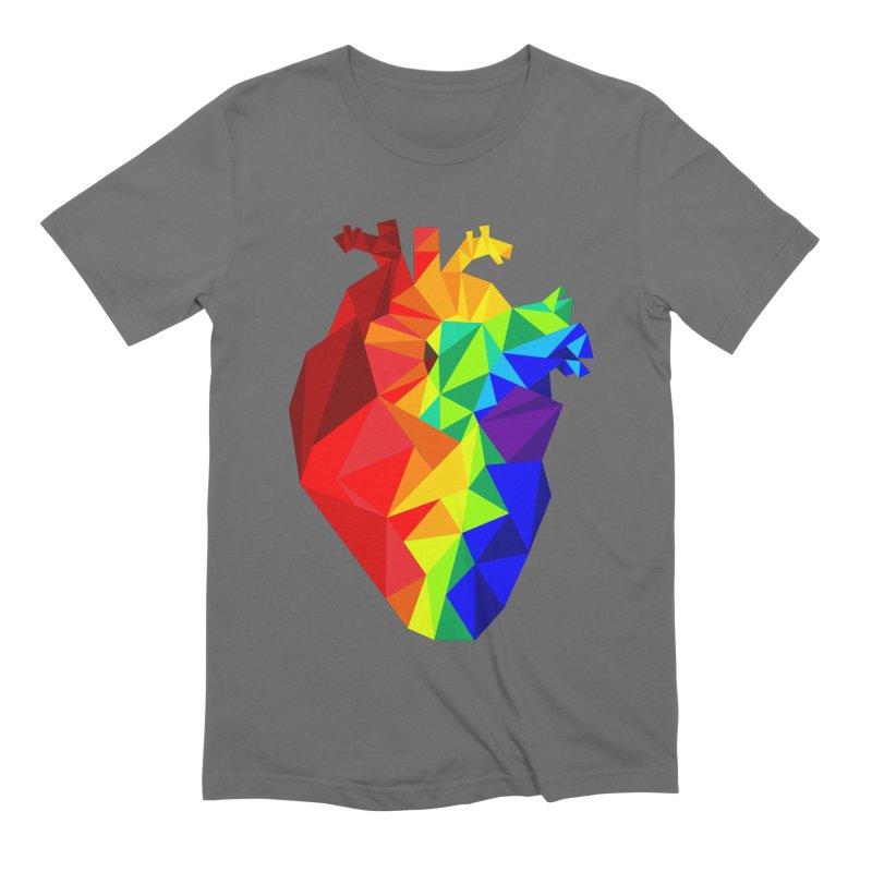 Crystal Heart Men's T-Shirt by Izzy Berdan's Artist Shop