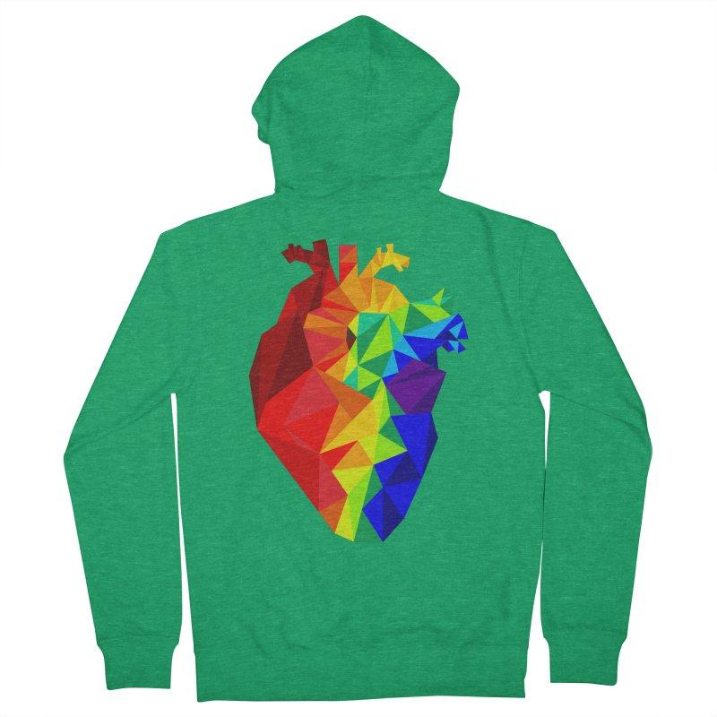 Crystal Heart Men's Zip-Up Hoody by Izzy Berdan's Artist Shop