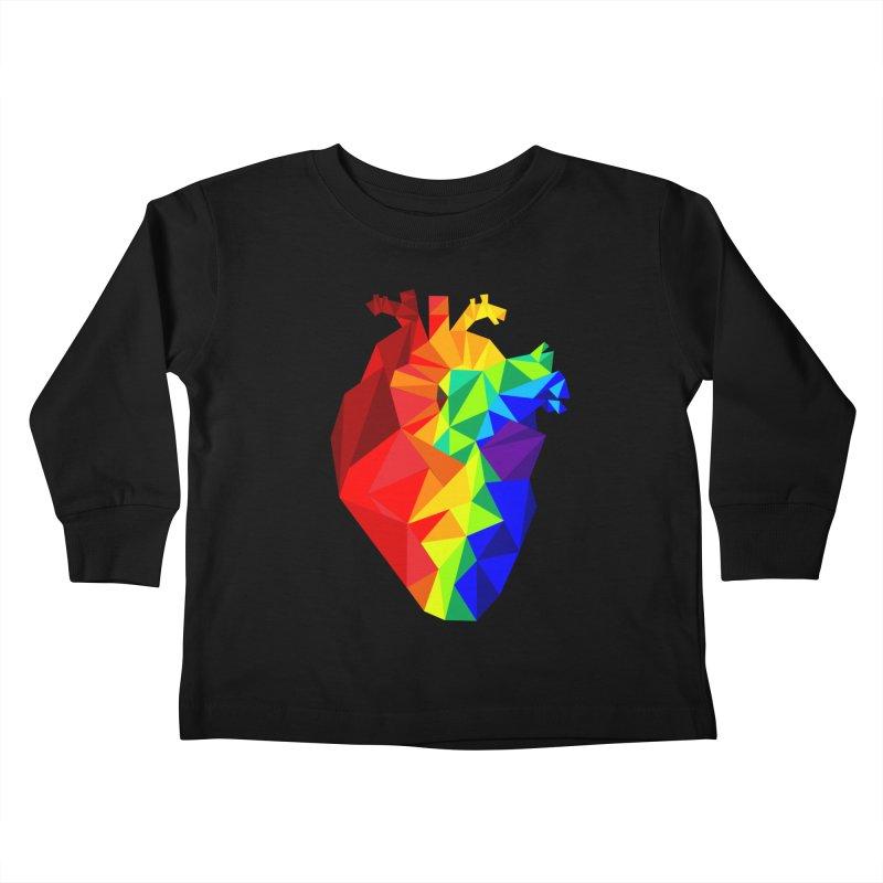 Crystal Heart Kids Toddler Longsleeve T-Shirt by Izzy Berdan's Artist Shop