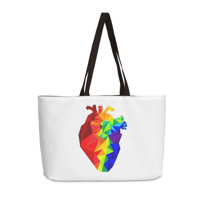 Crystal Heart Accessories Bag by Izzy Berdan's Artist Shop