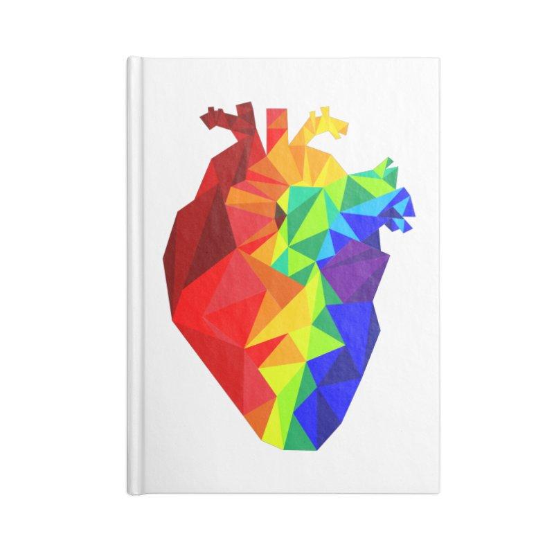 Crystal Heart Accessories Notebook by Izzy Berdan's Artist Shop
