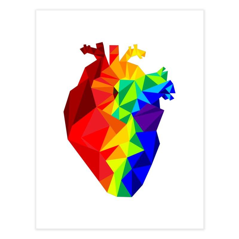 Crystal Heart Home Fine Art Print by Izzy Berdan's Artist Shop
