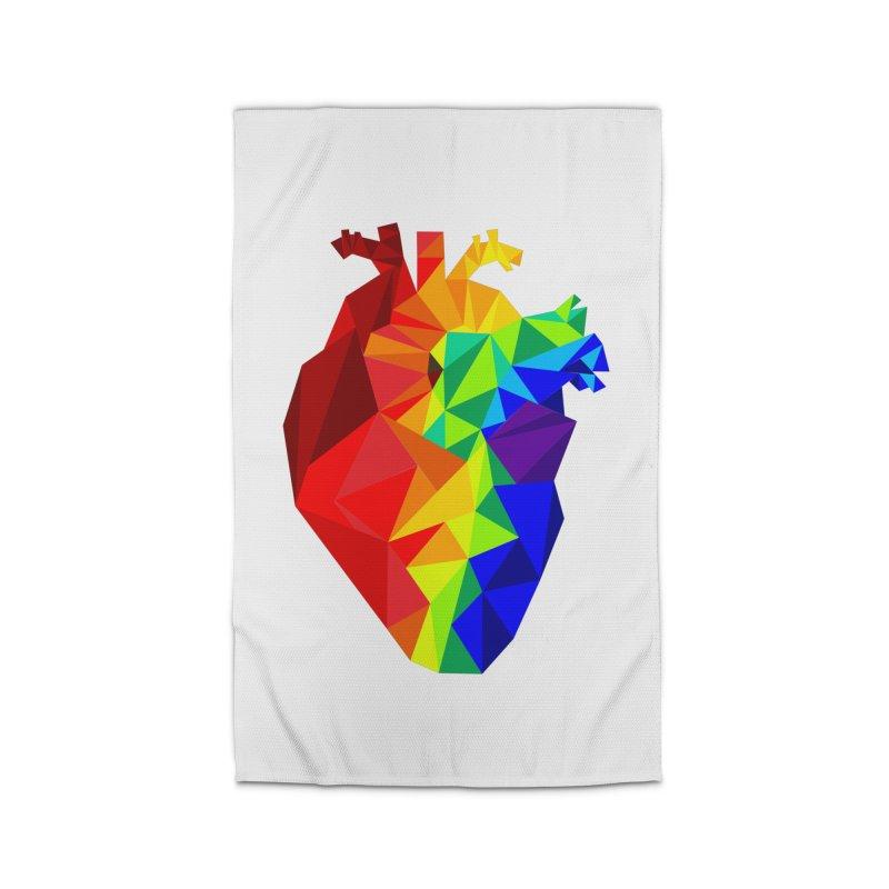 Crystal Heart Home Rug by Izzy Berdan's Artist Shop