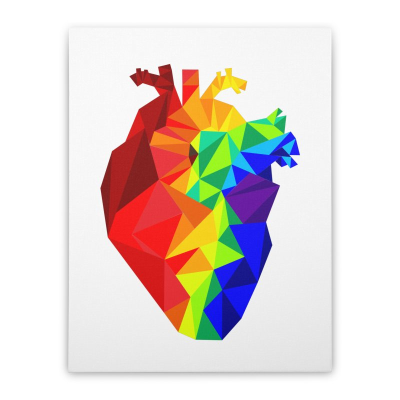 Crystal Heart Home Stretched Canvas by Izzy Berdan's Artist Shop