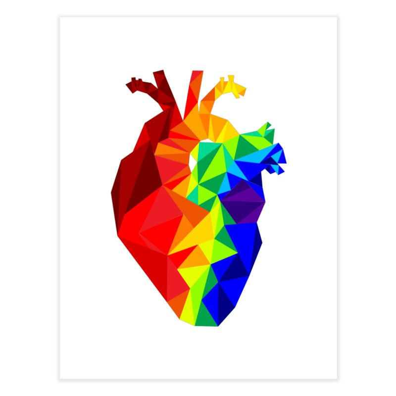 Crystal Heart Home Fine Art Print by izzyberdan's Artist Shop