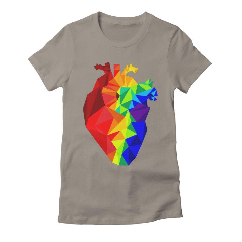 Crystal Heart Women's Fitted T-Shirt by Izzy Berdan's Artist Shop