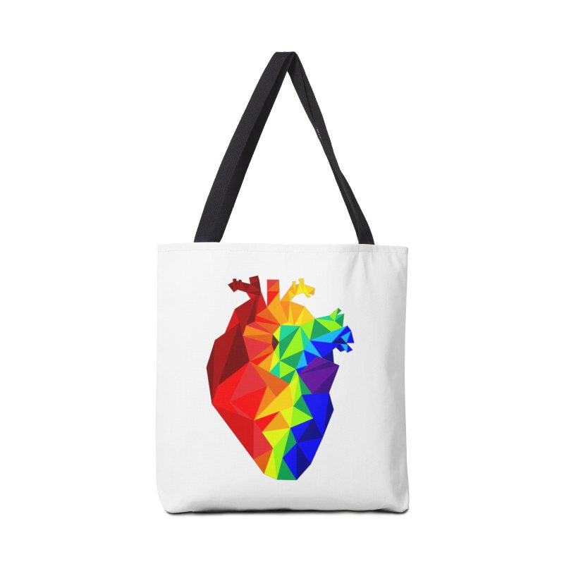 Crystal Heart Accessories Bag by izzyberdan's Artist Shop