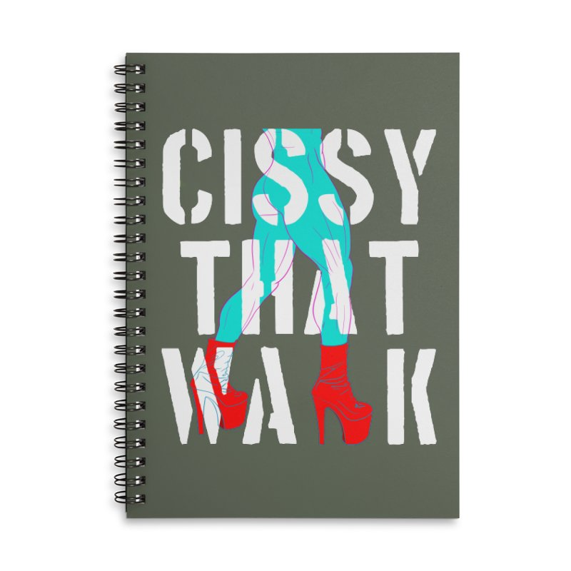 cissy that walk Accessories Lined Spiral Notebook by Izzy Berdan's Artist Shop
