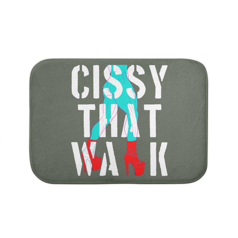 cissy that walk Home Bath Mat by Izzy Berdan's Artist Shop