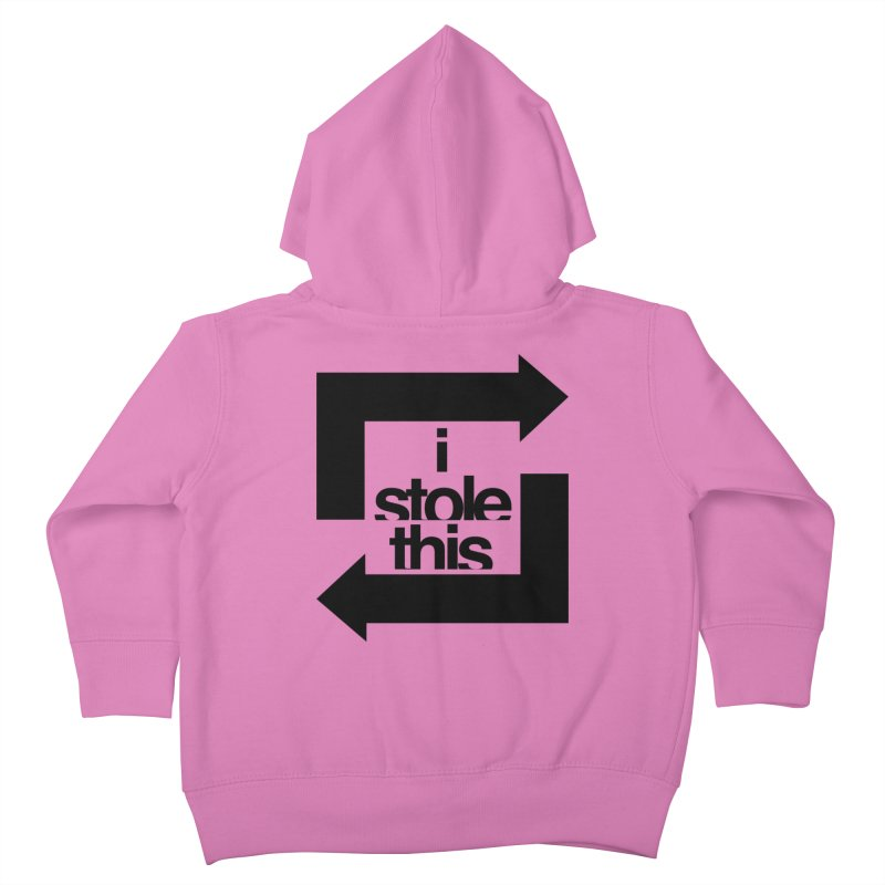 i stole this idea Kids Toddler Zip-Up Hoody by Izzy Berdan's Artist Shop