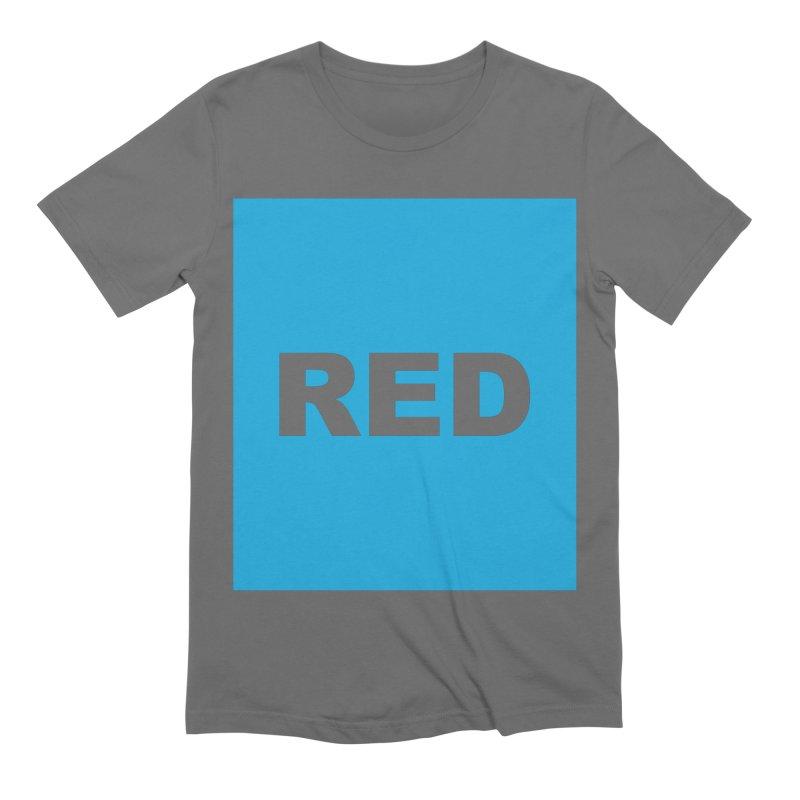 red is blue Men's T-Shirt by Izzy Berdan's Artist Shop
