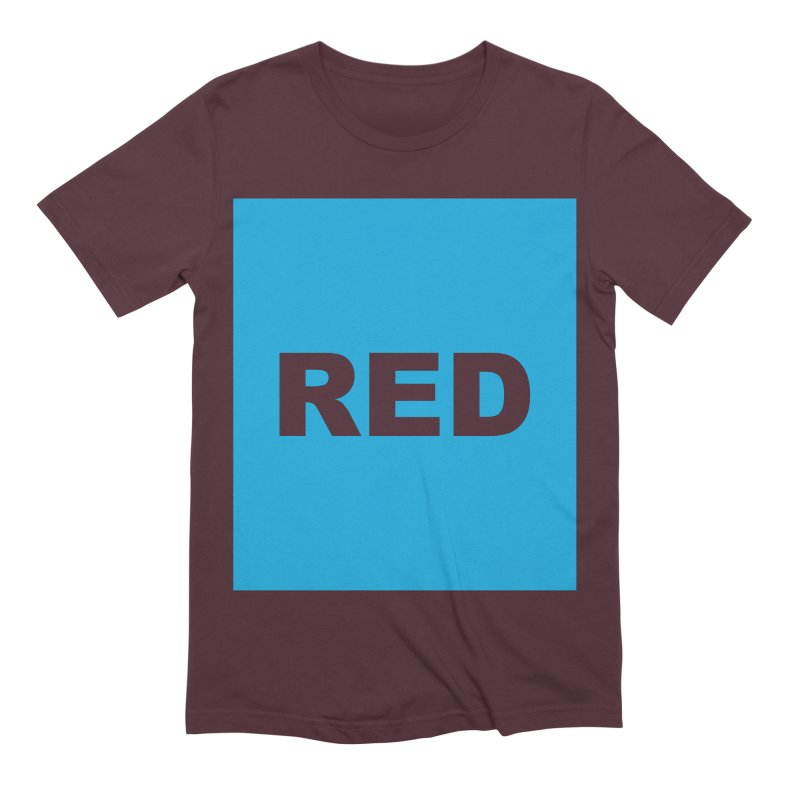 red is blue Men's Extra Soft T-Shirt by izzyberdan's Artist Shop