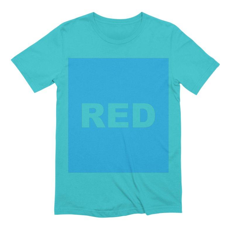 red is blue Men's Extra Soft T-Shirt by Izzy Berdan's Artist Shop