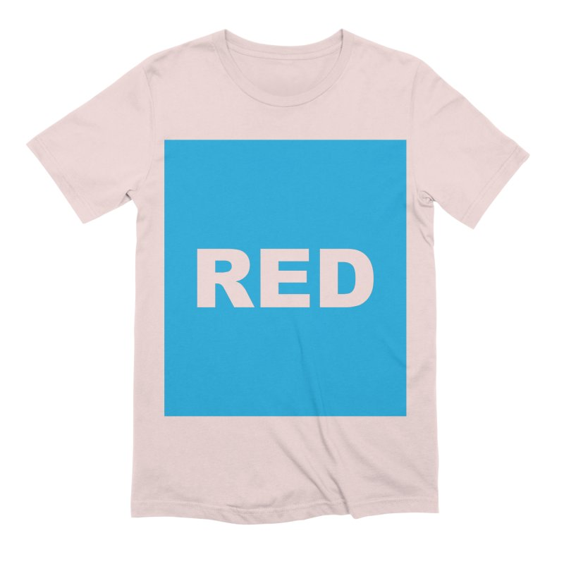 red is blue Men's Extra Soft T-Shirt by Izzy Berdan's Artist Shop