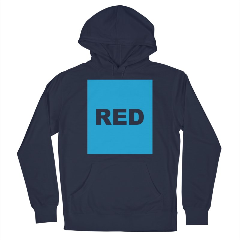 red is blue Men's Pullover Hoody by Izzy Berdan's Artist Shop
