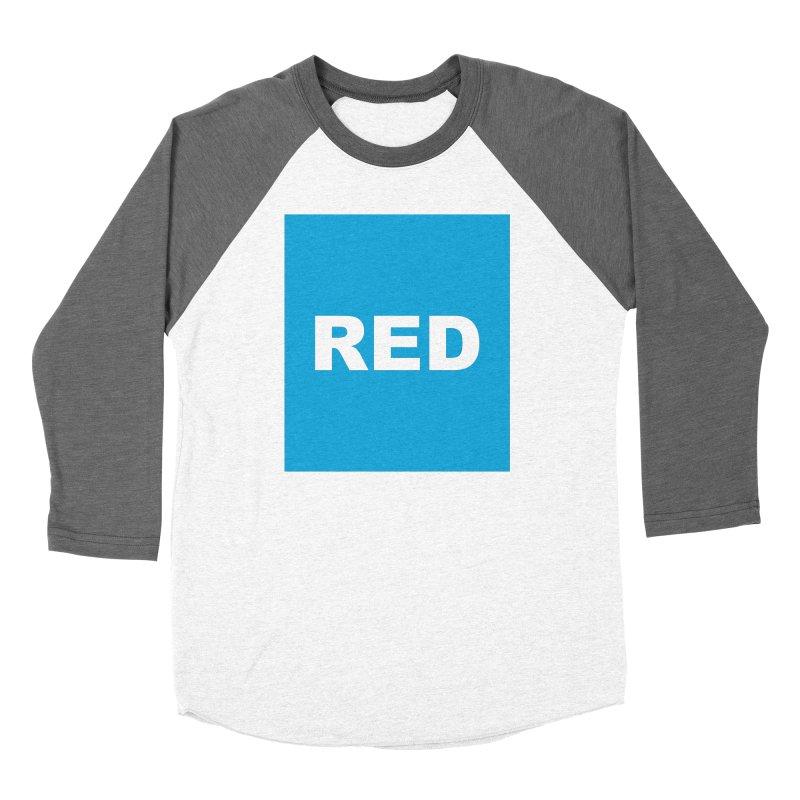 red is blue Women's Longsleeve T-Shirt by Izzy Berdan's Artist Shop